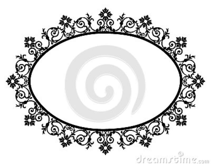 Black oval frame stock vector. Illustration of beauty - 89747893