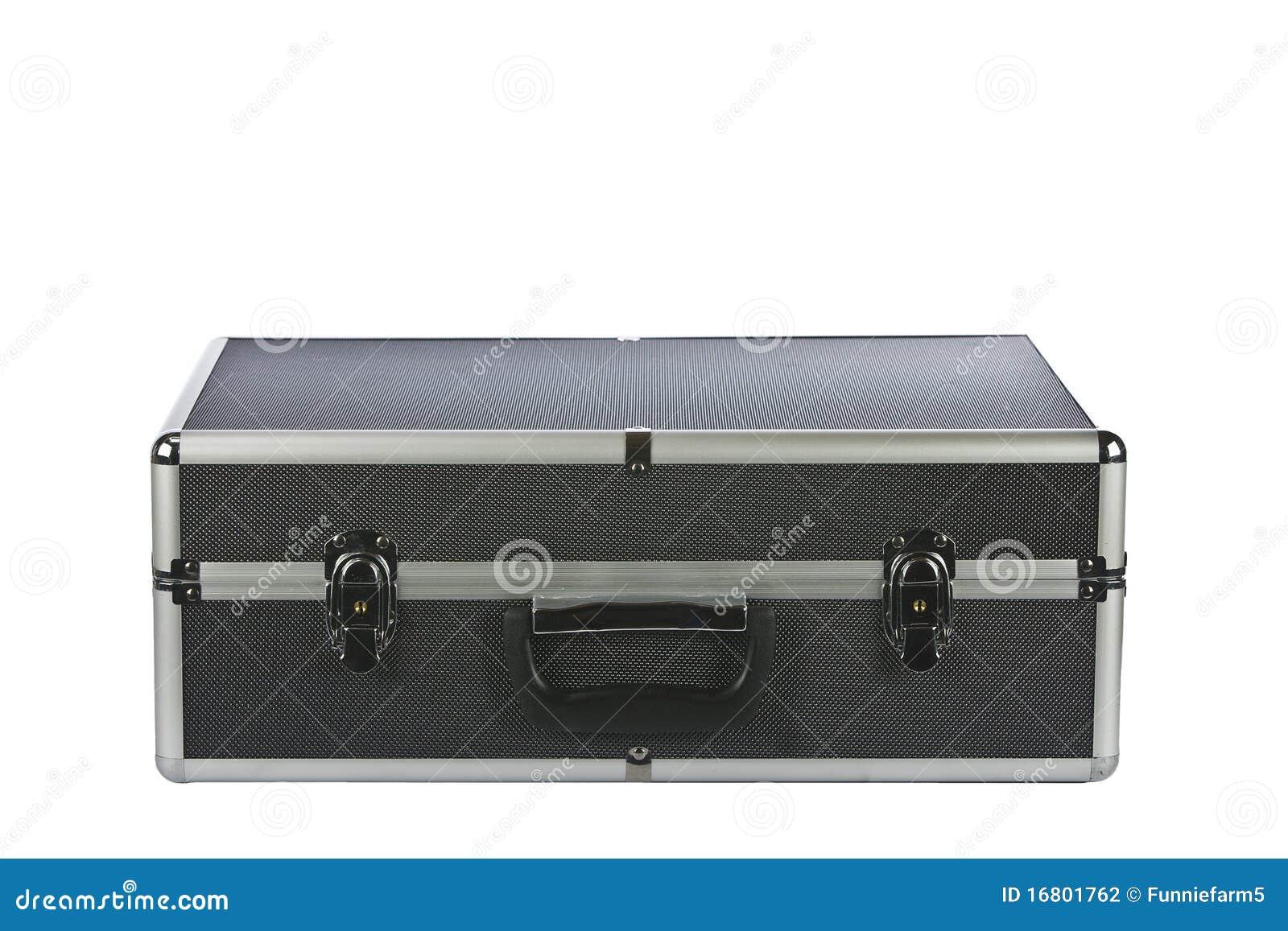 Black Padded Aluminum Briefcase Isolated On White Stock ...