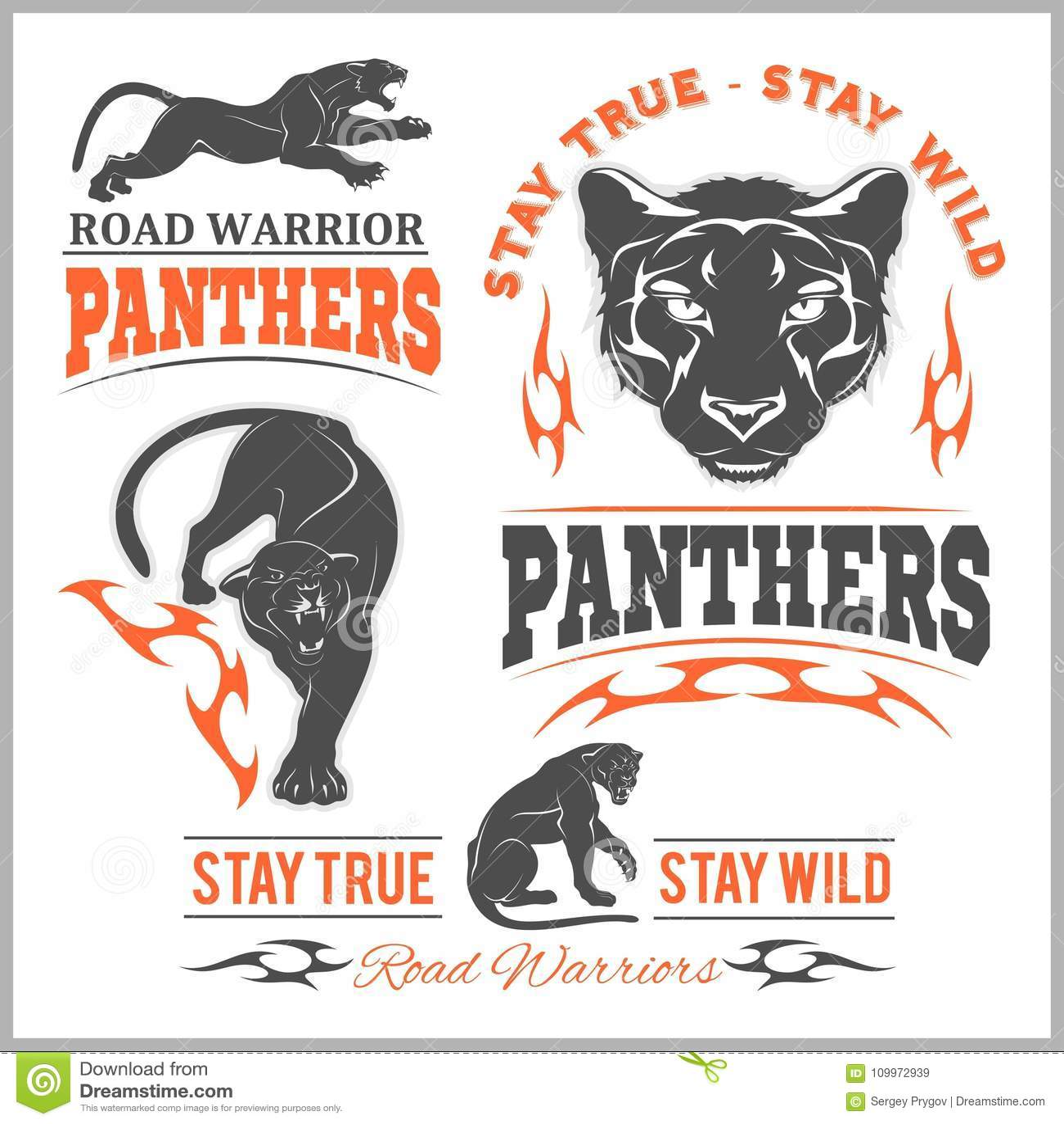 Black panther head mockup template animal symbol logo emblem or sticker for branding