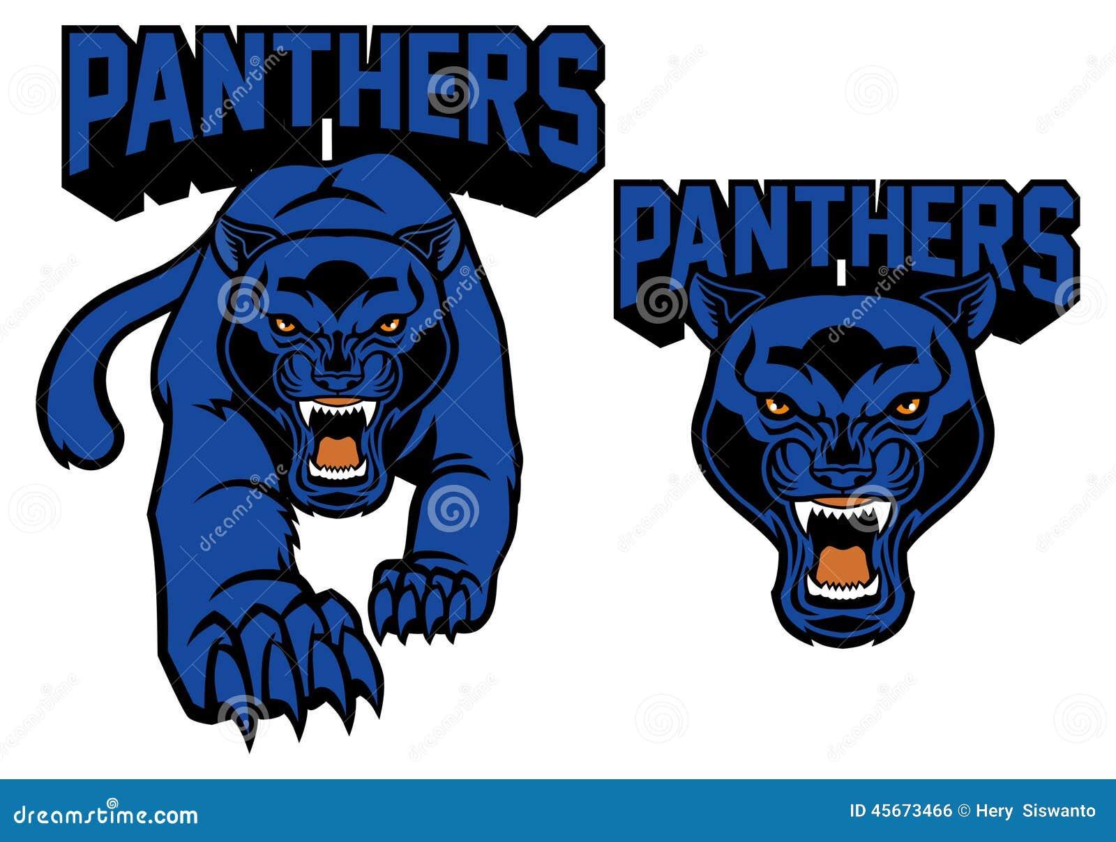 Black panther mascot s... Lion Roaring Drawing