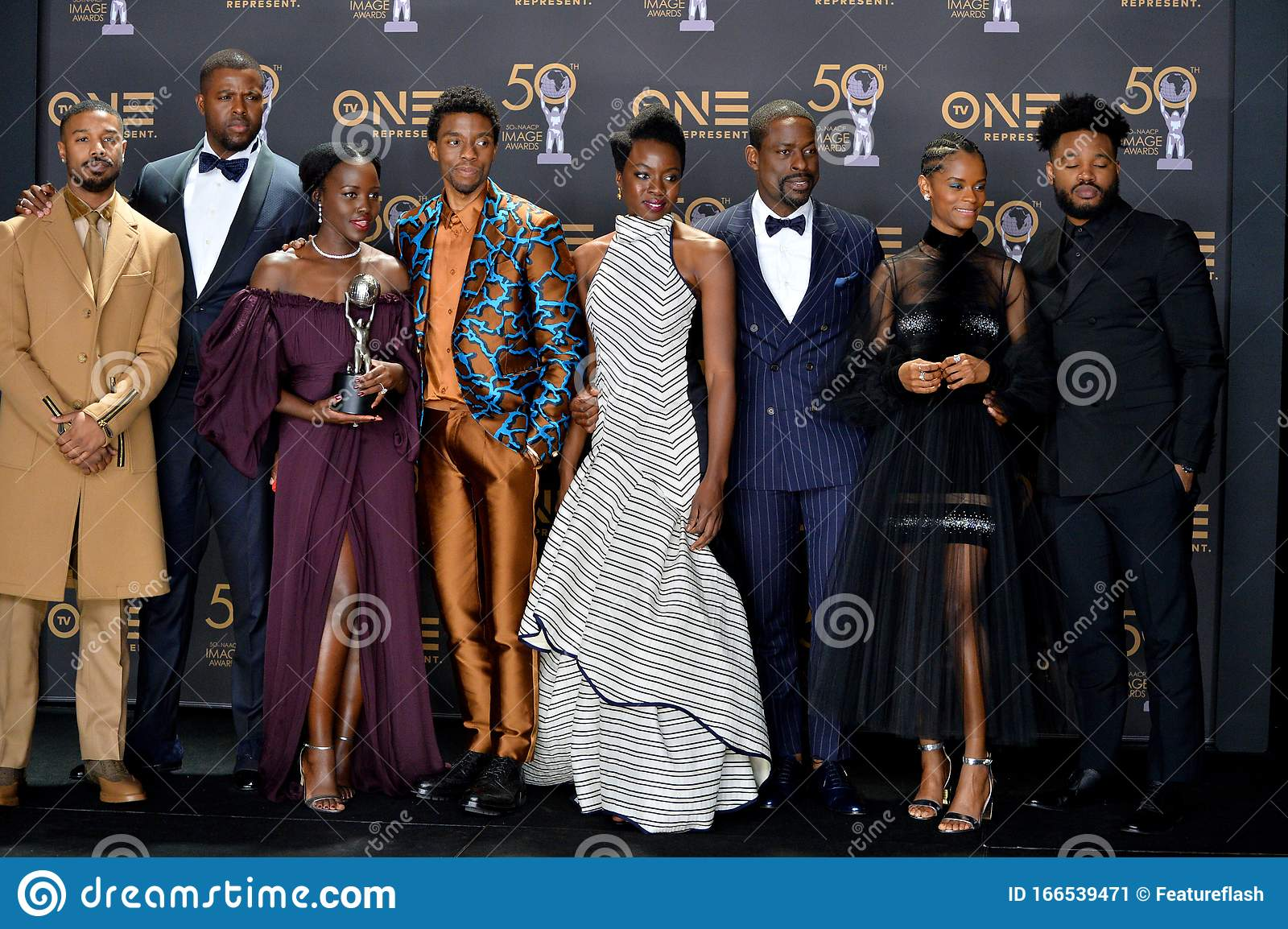 Black Panther Michael B Jordan Winston Duke Lupita Nyong O Chadwick Boseman Danai Gurira Sterling K Brown Letitia Wright Editorial Photo Image Of Celebrities Duke 166539471