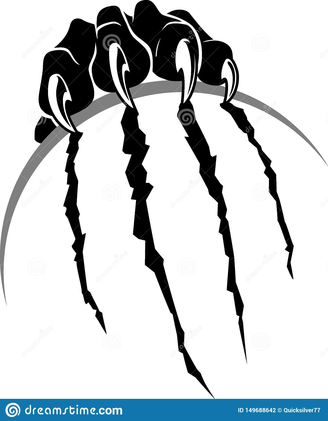 Black Panther Rip Claw Sphere Surface Stock Illustration Illustration Of Attack Logotype 149688642