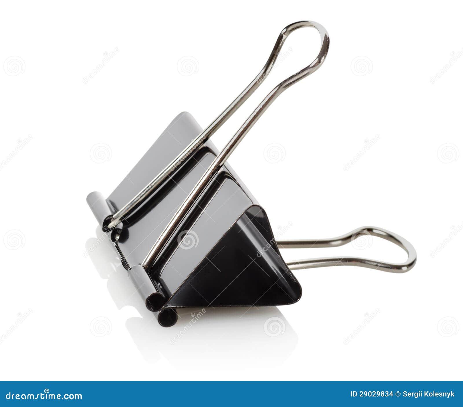 black paper clips