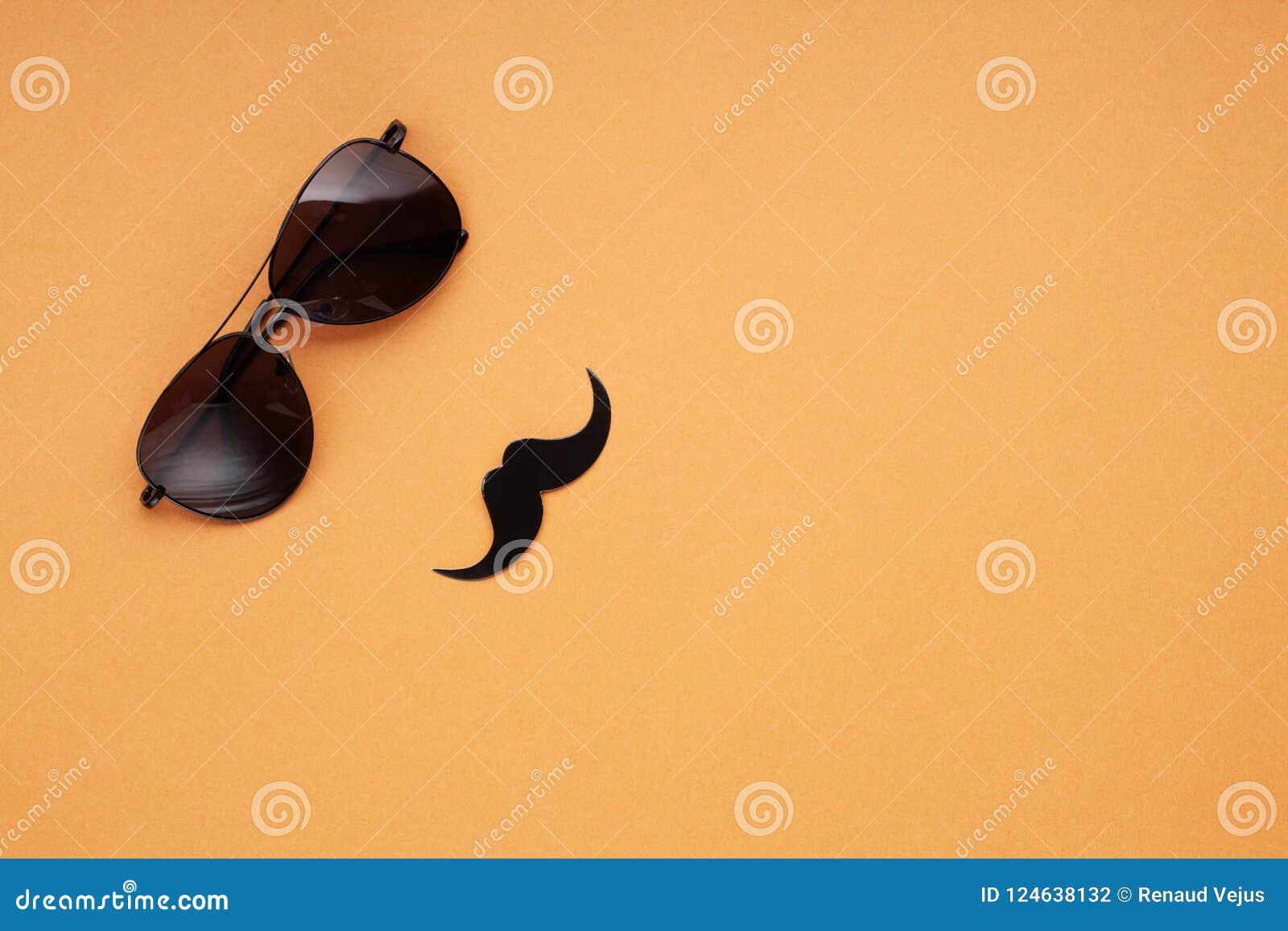 94766f01b788d Men s Glasses Healt Copy With Paper Moustaches Black Space wYPtx