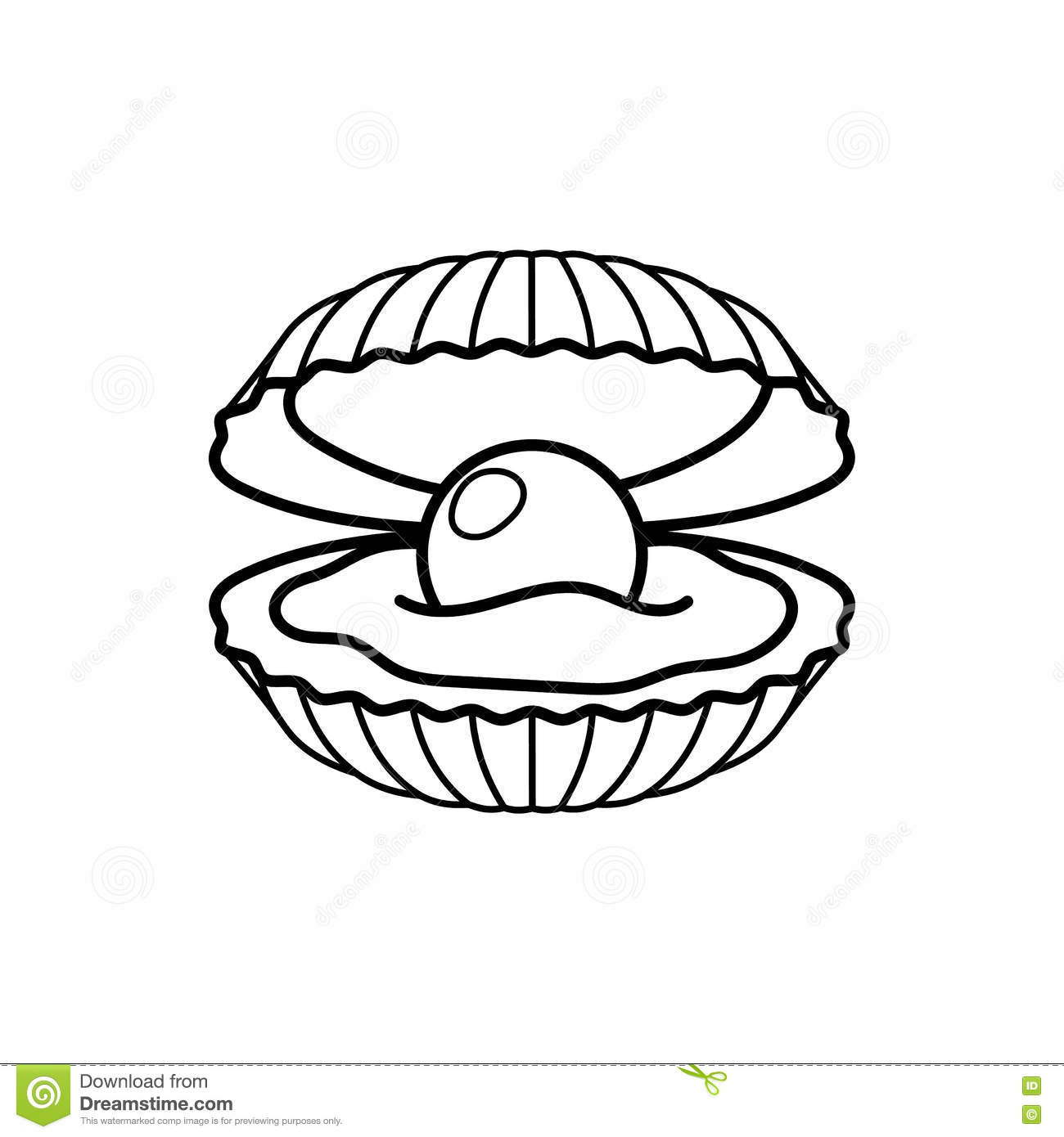Black pearl in shell icon stock vector. Image of beautiful ...