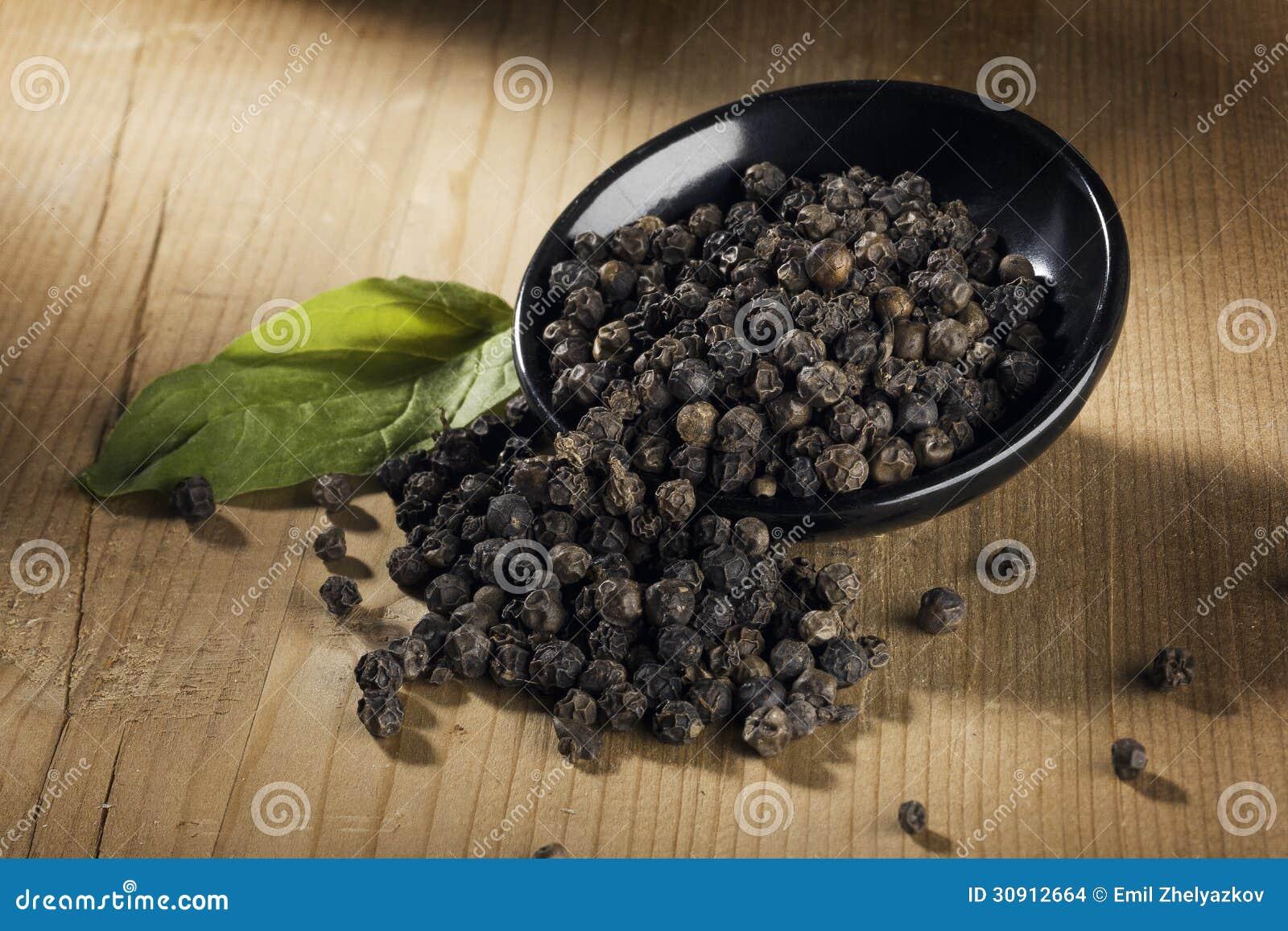 Download Black pepper stock photo. Image of gourmet, macro, seed - 30912664