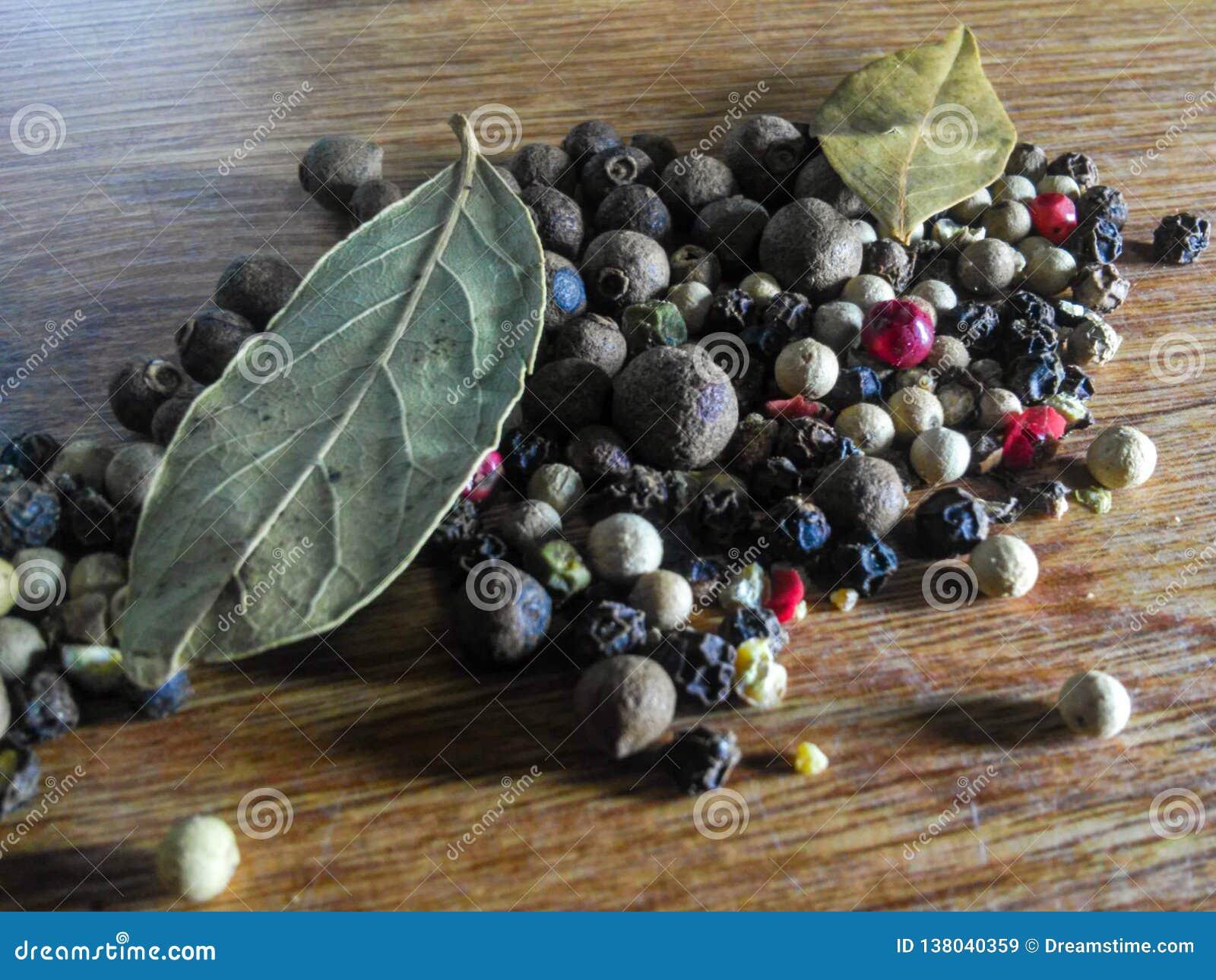 Black pepper grains Natural spice