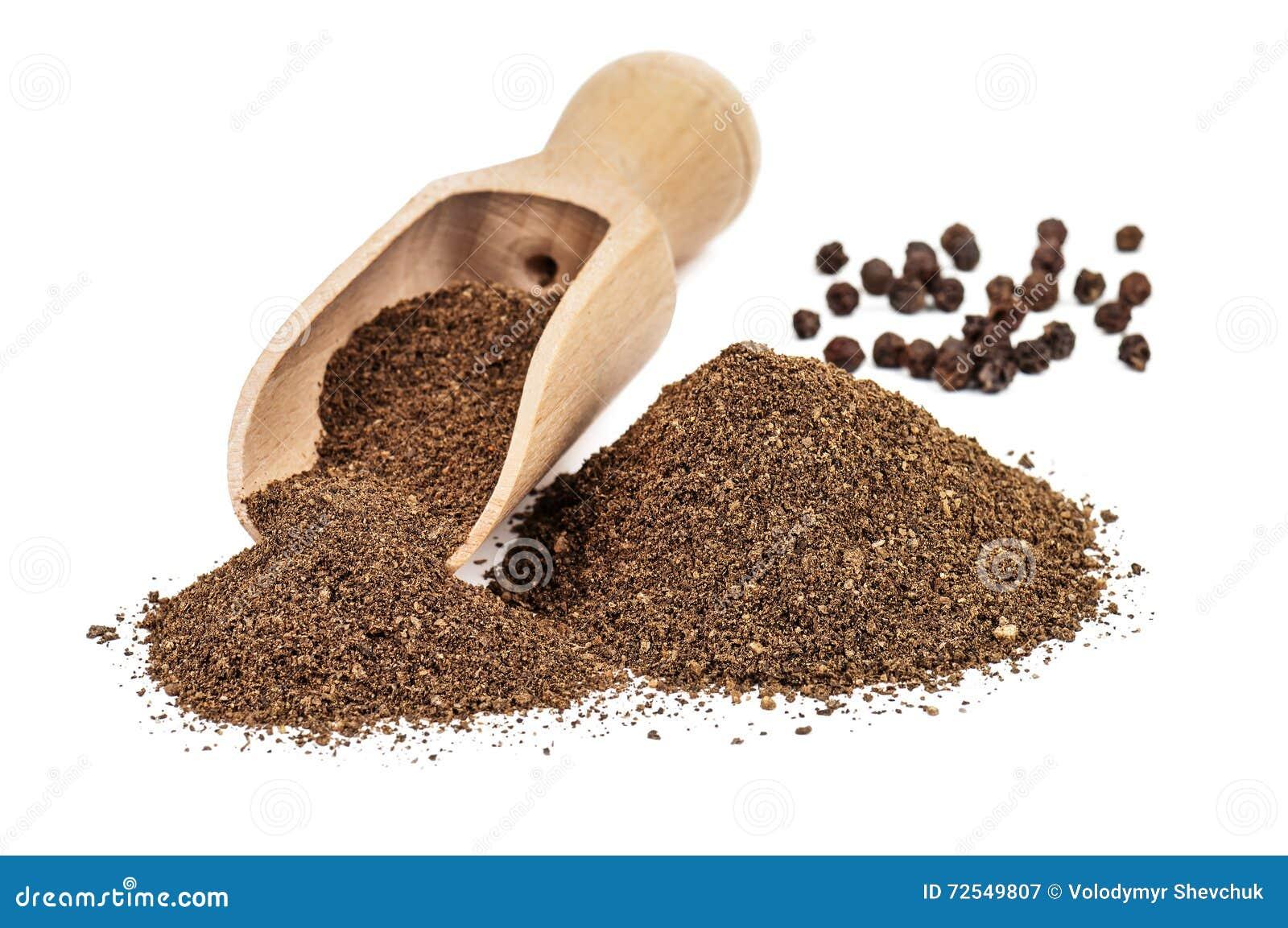 Black pepper ground