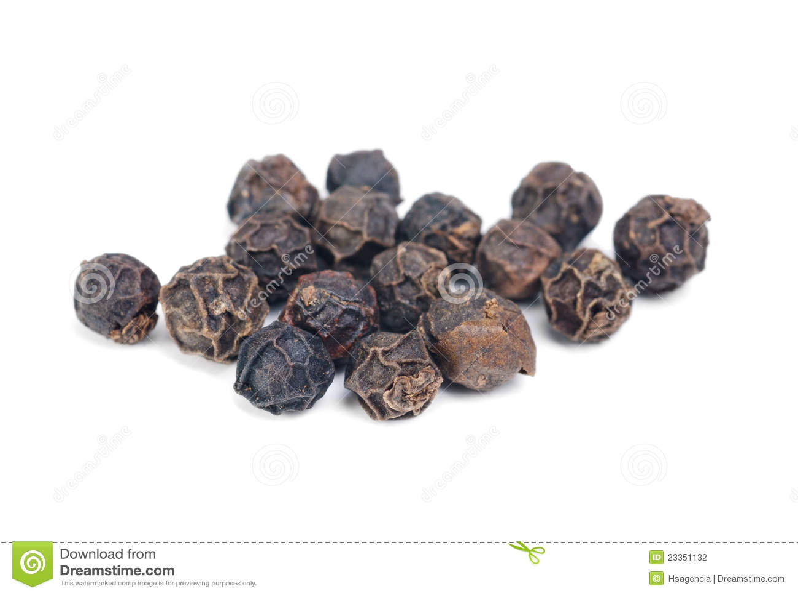 Black pepper macro ower white