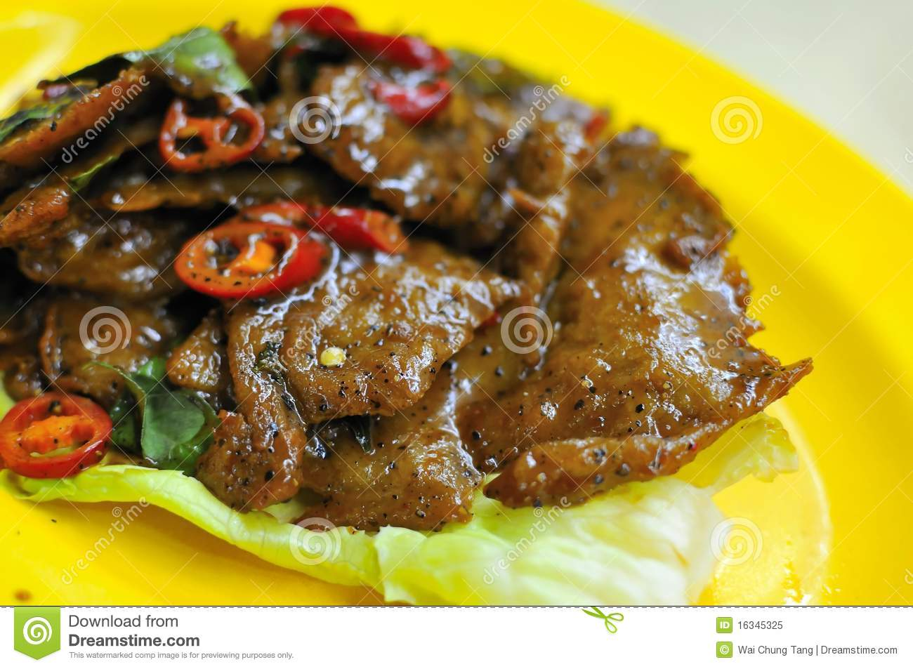 Black Pepper Steak Royalty Free Stock Photo - Image: 16345325