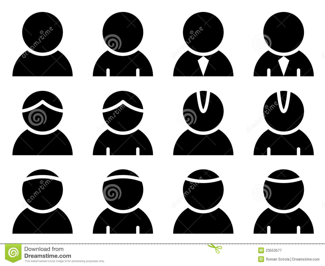 Black Person Icons Royalty Free Stock Photography - Image: 23553577