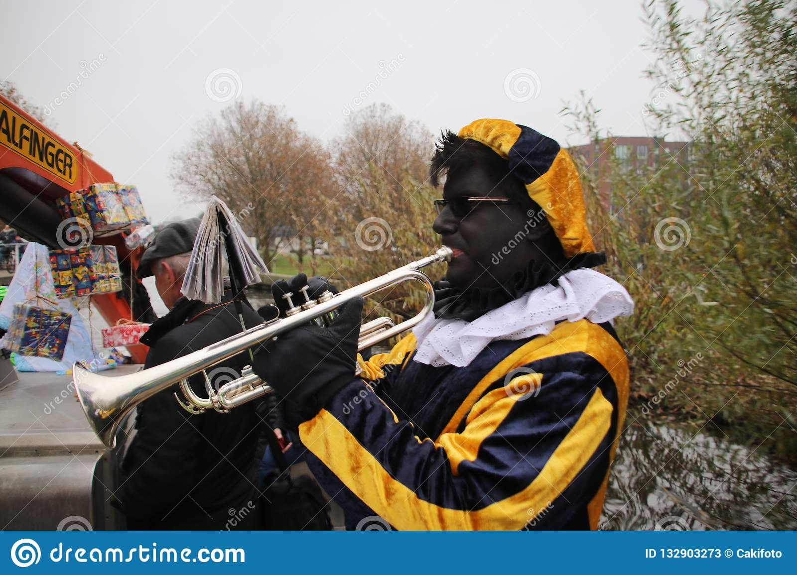 Black Pete, The Helper Of Dutch Traditional Celebration Of