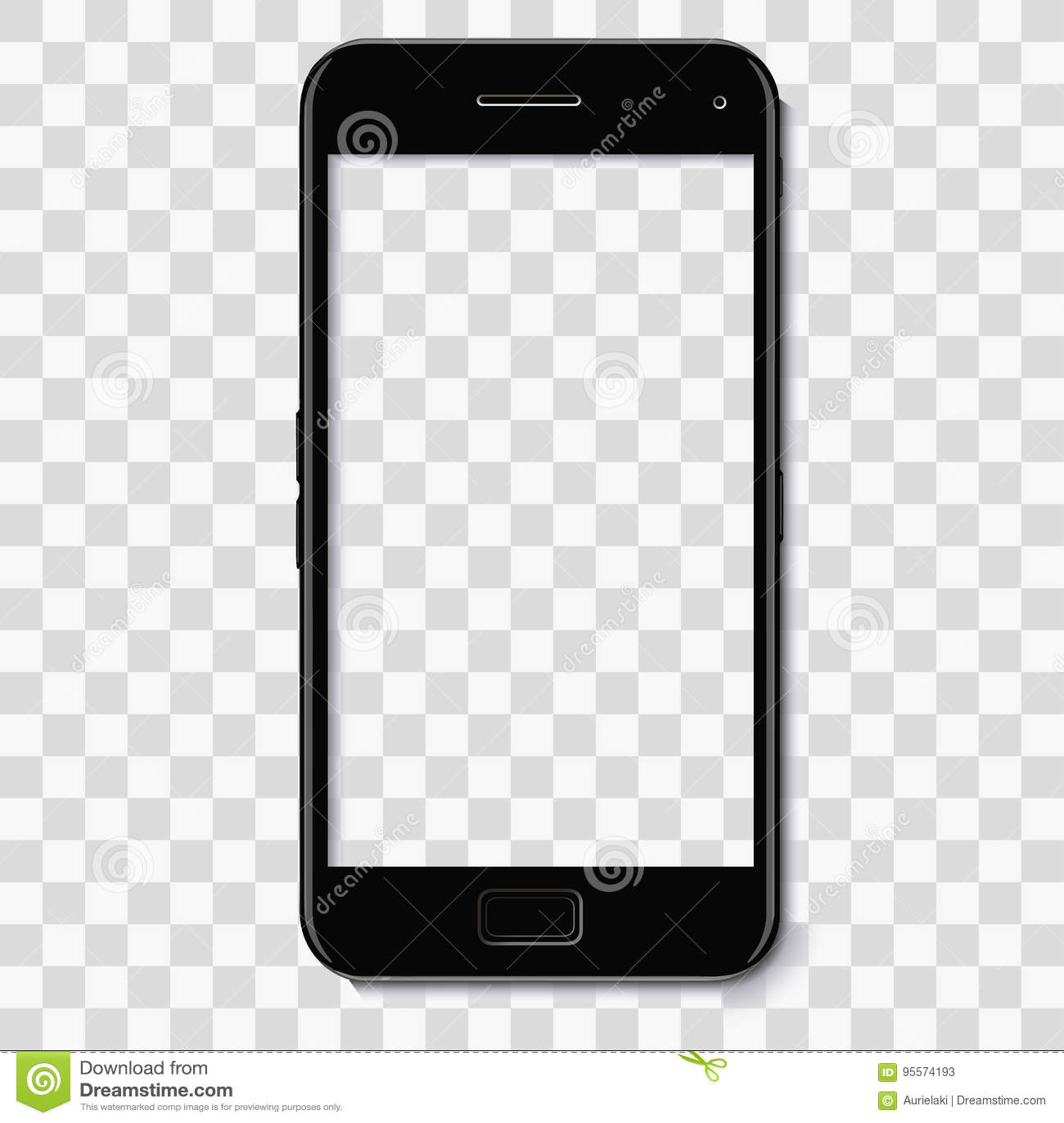 Black Phone Vector Mock Up Frame Template Stock Vector ...