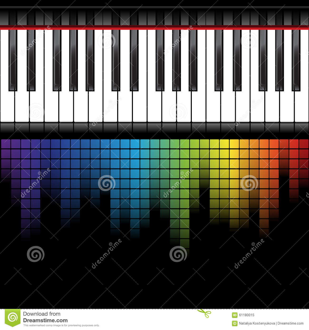 Black piano template stock vector. Illustration of keyboard - 61180015