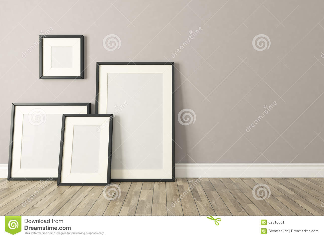 Black Picture Clear Frames Decor, Background, Template Design Stock ...
