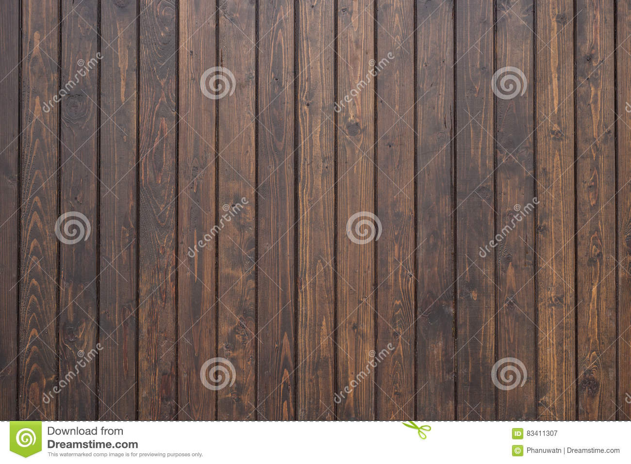 Black Pine Wood Wall Texture For Background