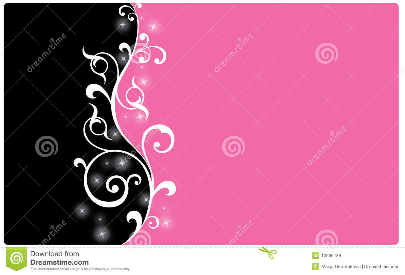 Black And Pink Background Royalty Free Stock Images - Image: 10665739