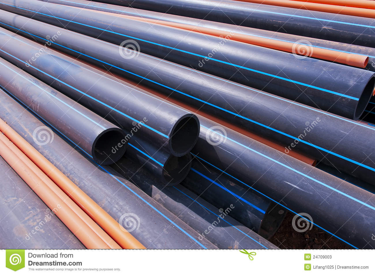 Black plastic pipe stock image of embarrassed