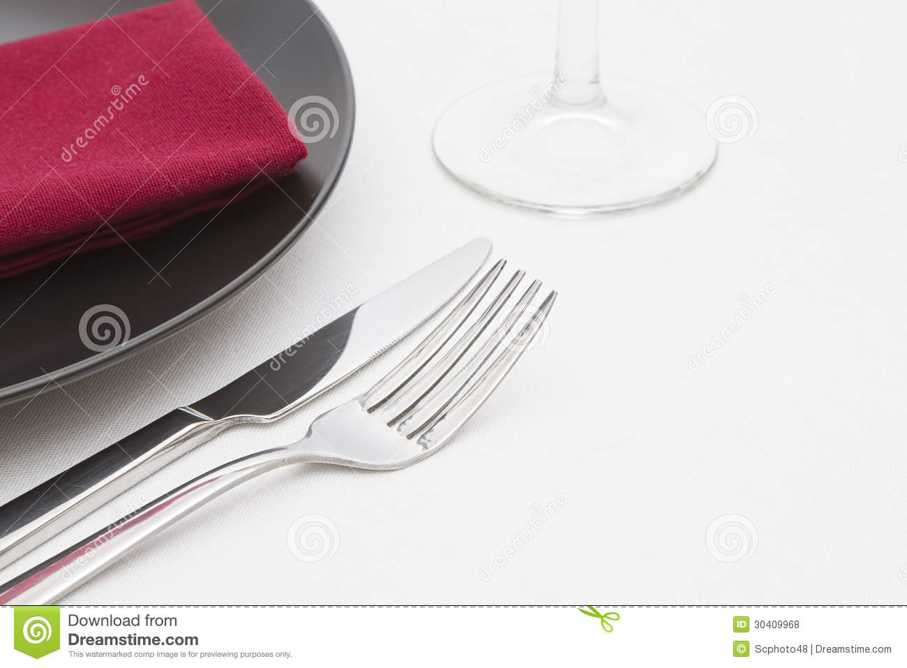 Black plate place setting royalty free stock photos for Place setting images