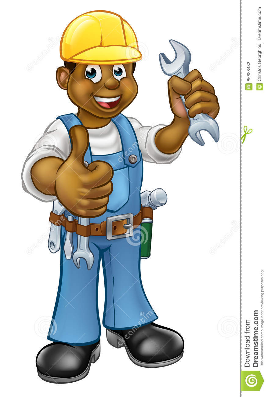 black-plumber-mechanic-handyman-cartoon-character-holding-spanner-giving-thumbs-up-85888432.jpg