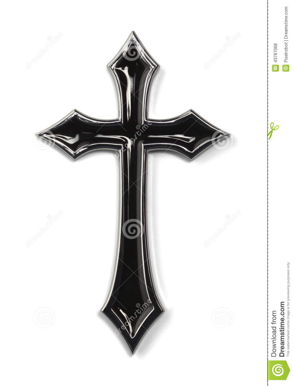 black pointed cross stock photo image 43787068 Crown of Thorns Drawing Crown of Thorns Drawing