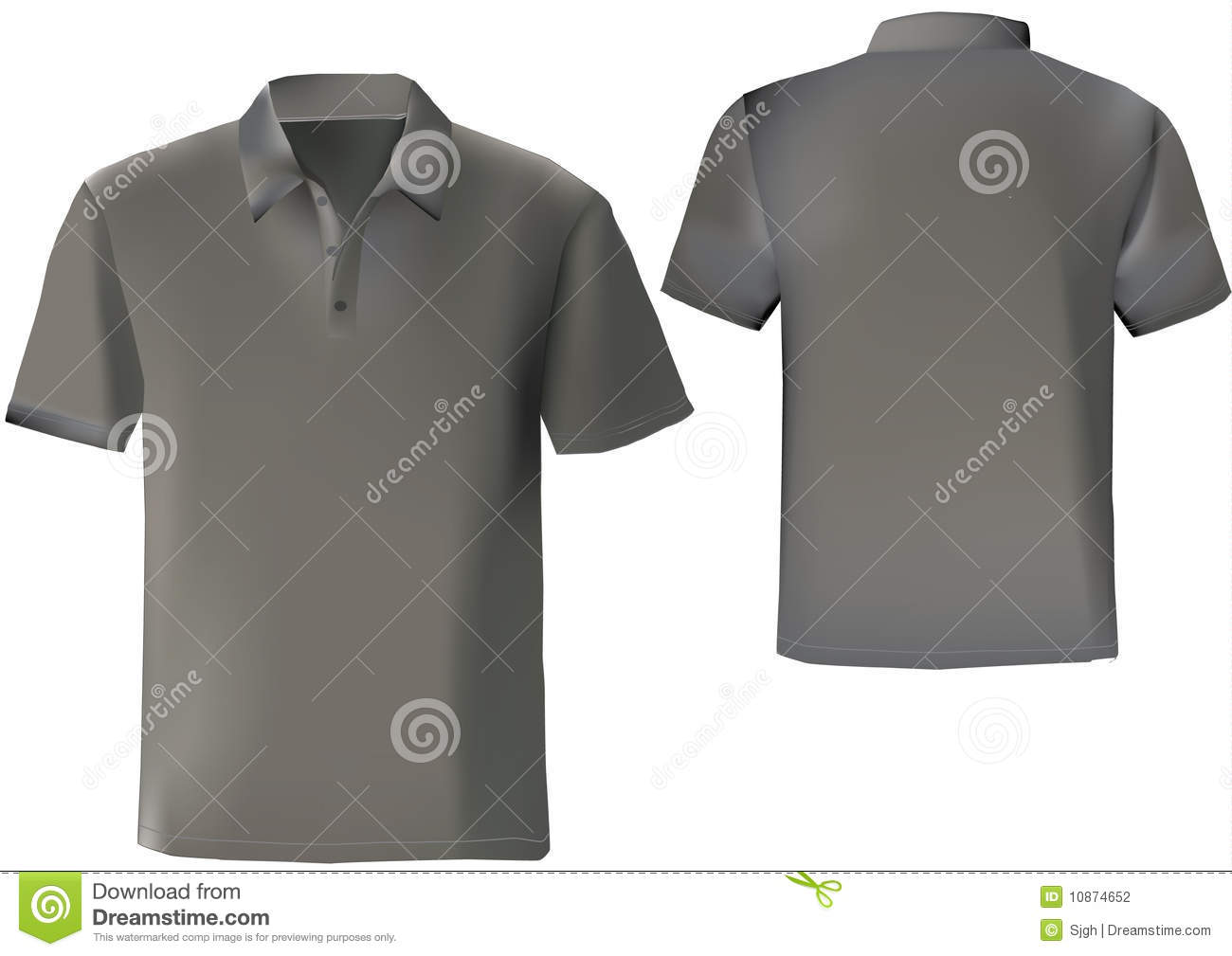 Plain Black Polo Shirt Template Artistic Endeavours