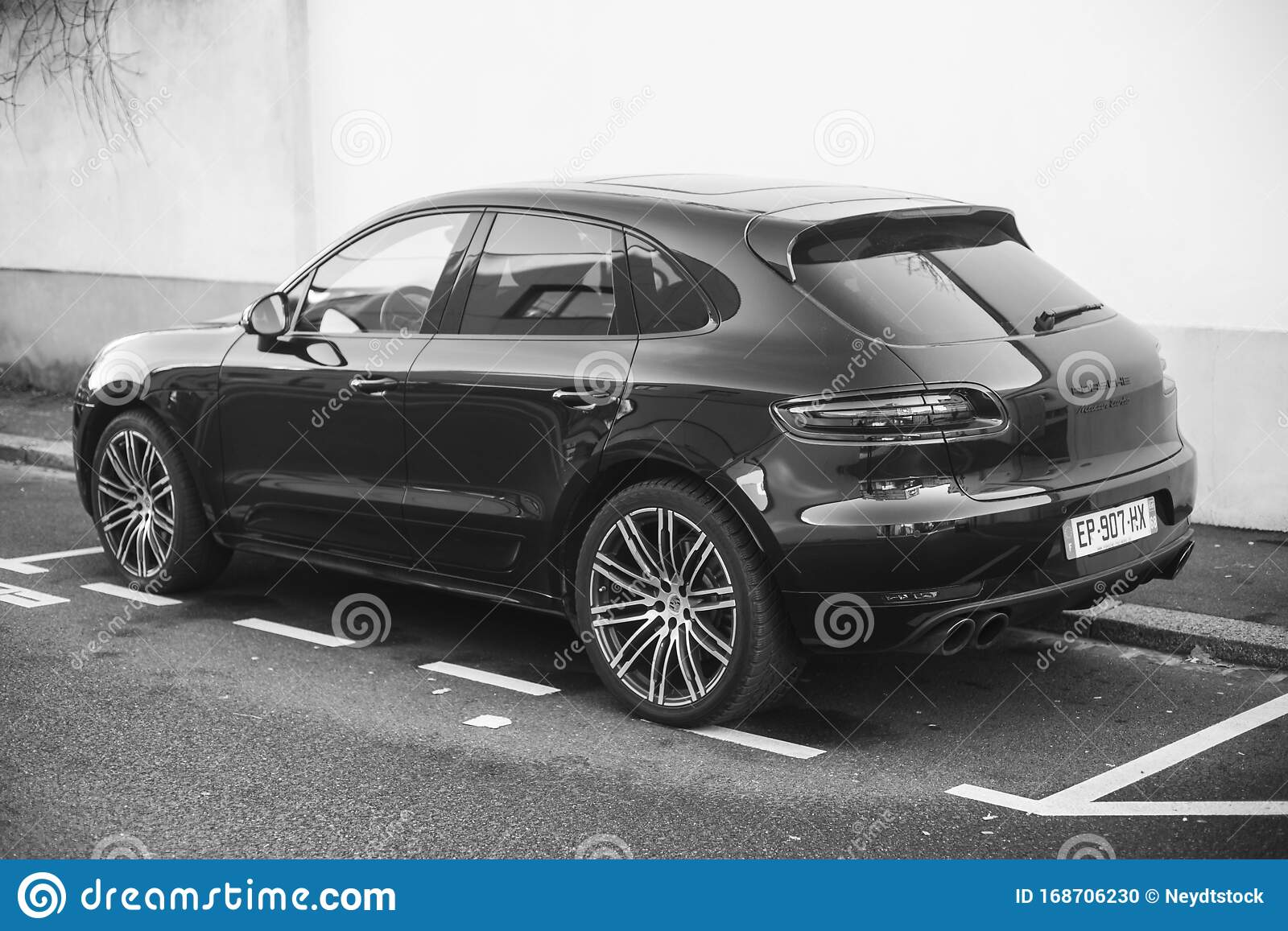 Black Porsche Macan Turbo Parked In The Street Editorial Image Image Of Modern Editorial 168706230