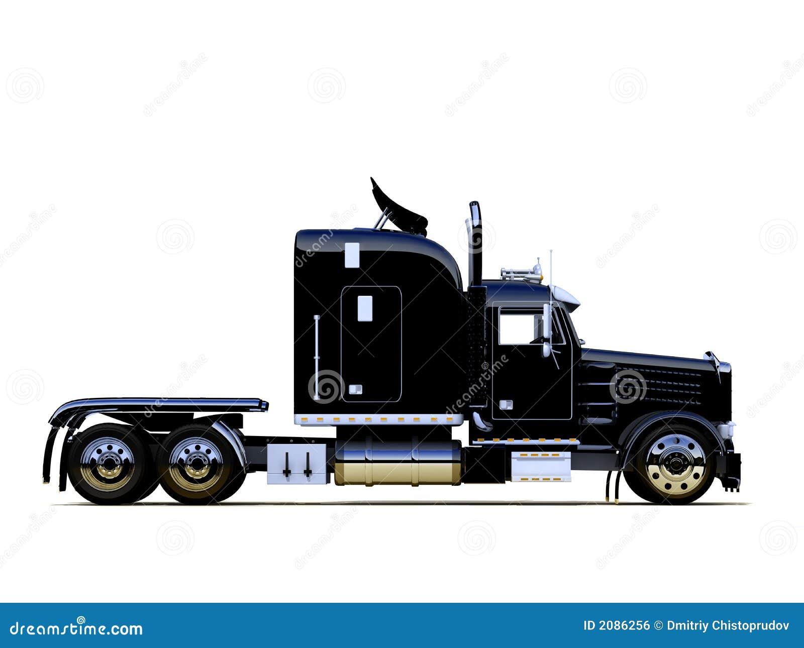 black powerful truck royalty free stock image image 2086256