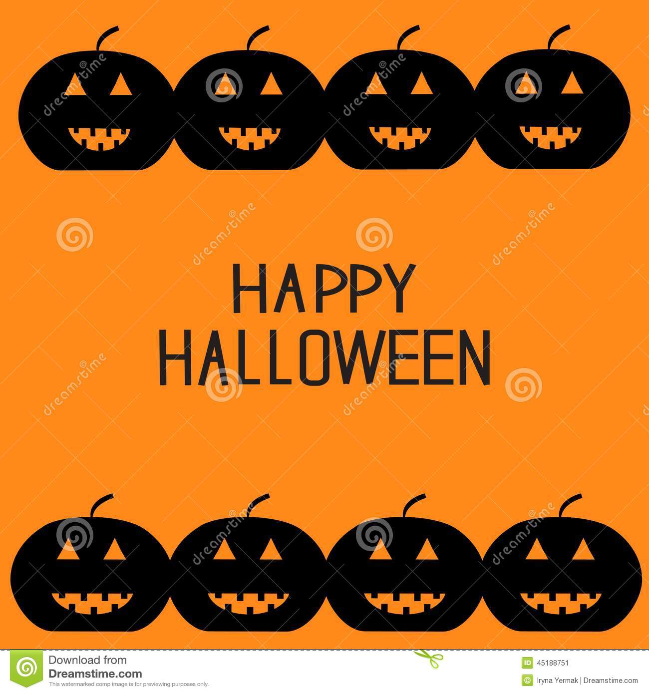 Halloween greetings for kids image collections greeting card examples black pumpkin frame halloween card for kids flat design stock halloween card for kids flat design kristyandbryce Gallery