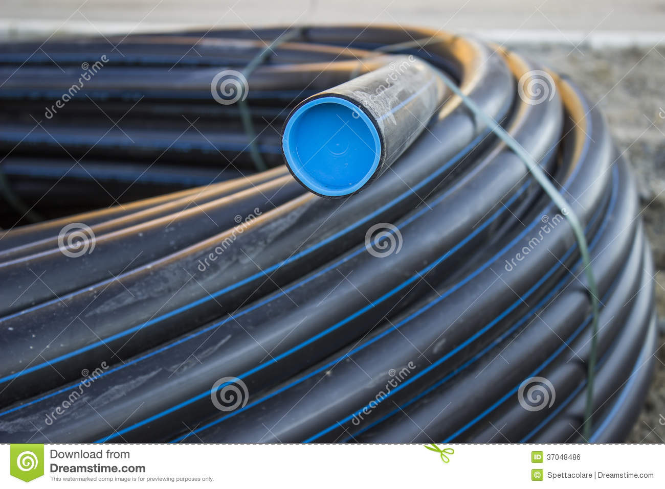 Black pvc pipe stock photo image of ground building for Plastic water pipe