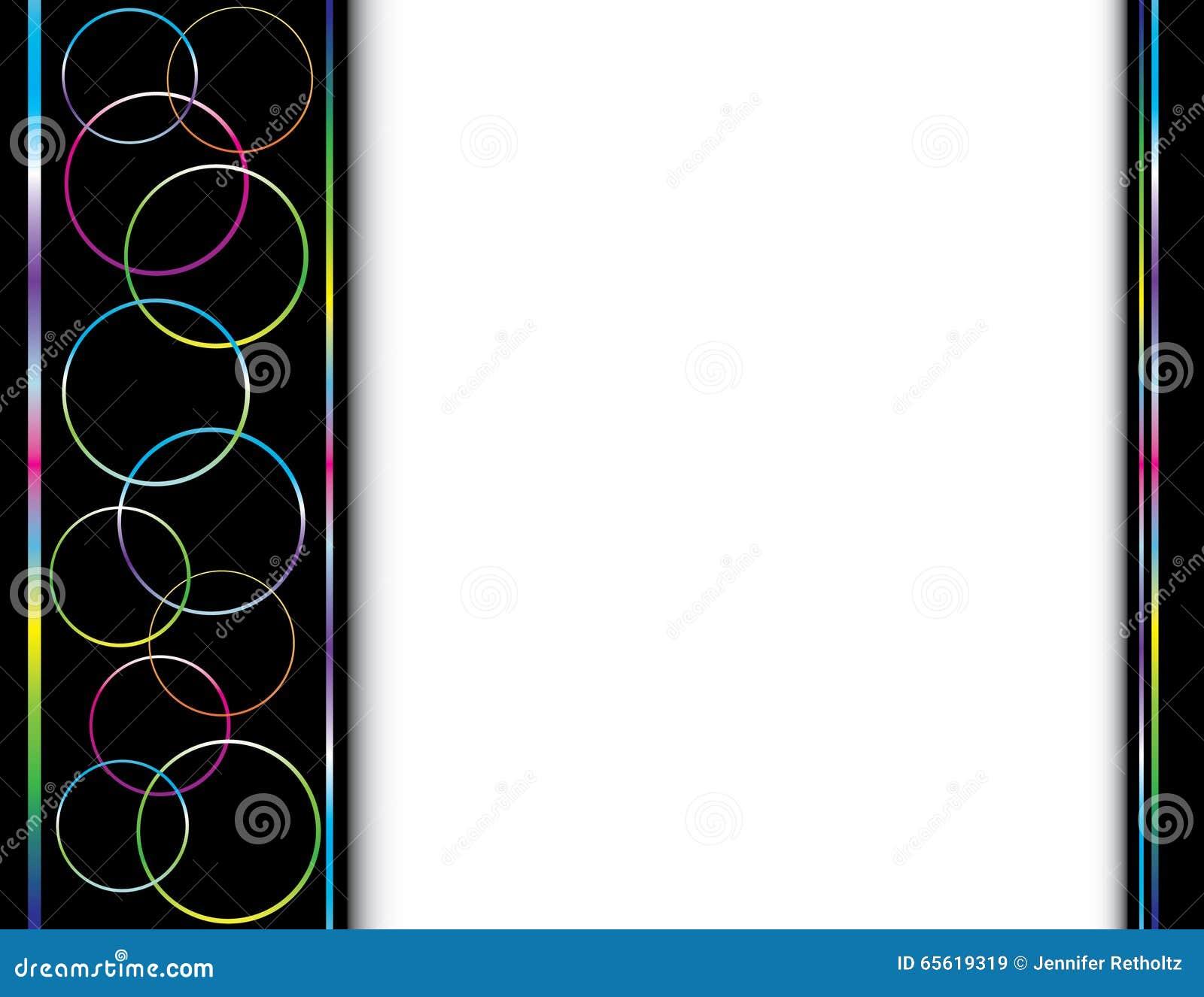 black rainbow border background stock illustration illustration of