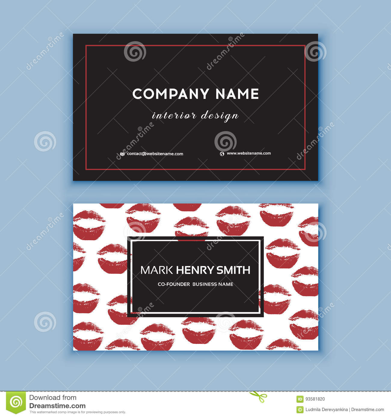 Black and red design business card with lips abstract modern black and red design business card with lips abstract modern backgrounds alramifo Image collections