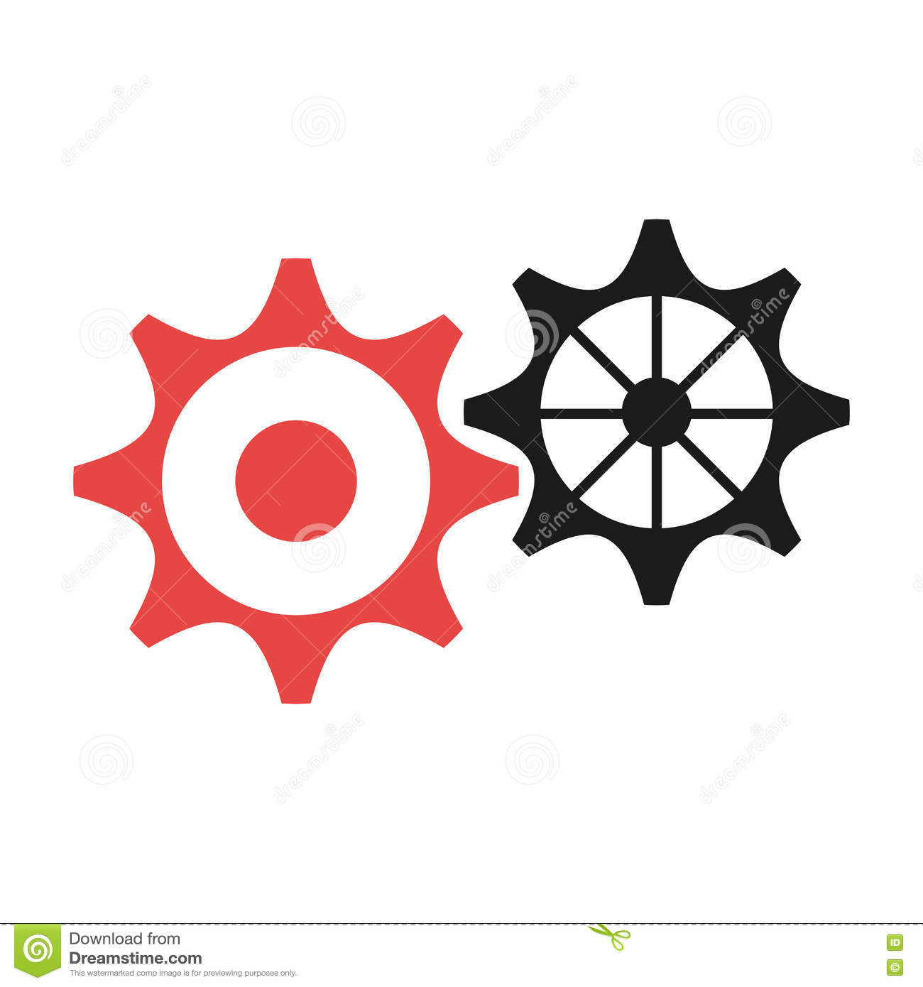 Black And Red Settings Icon Vector Graphic Stock Vector Illustration Of Editing Light 81929154