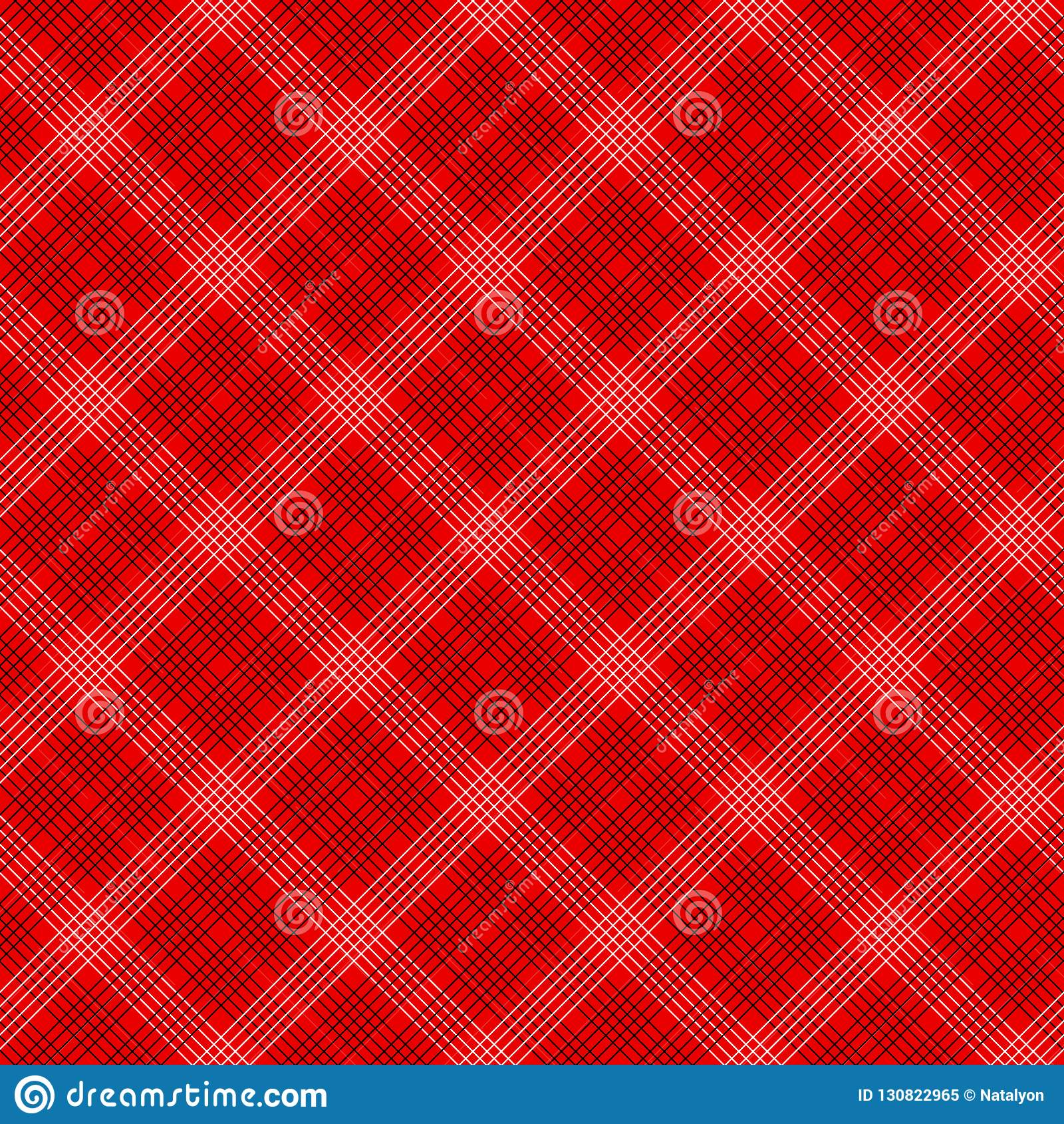 Black and red simple tartan traditional fabric seamless pattern, vector