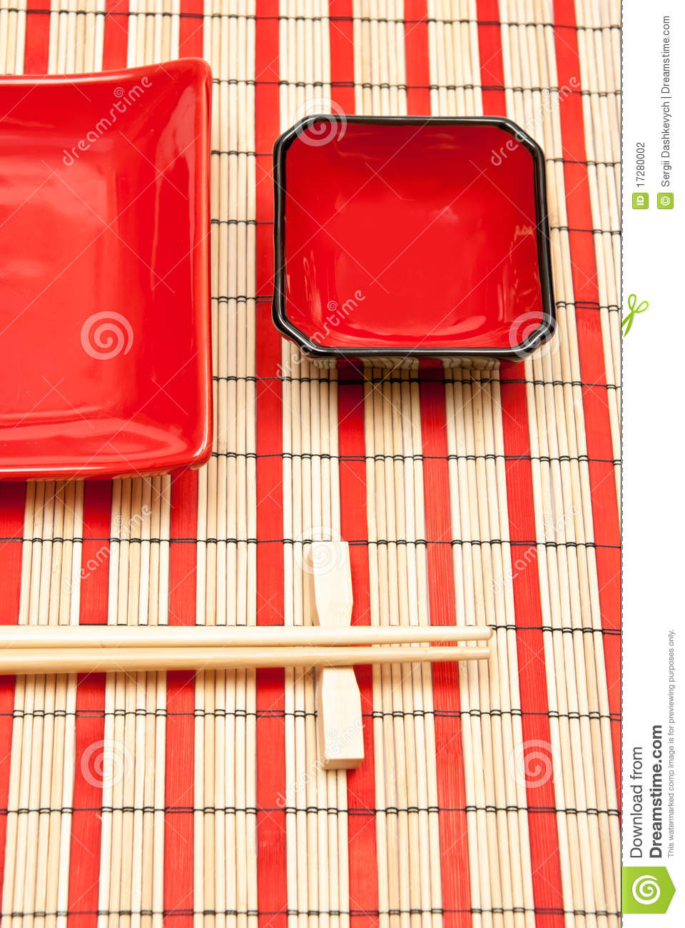 Black And Red Sushi Set Stock Photography Image 17280002