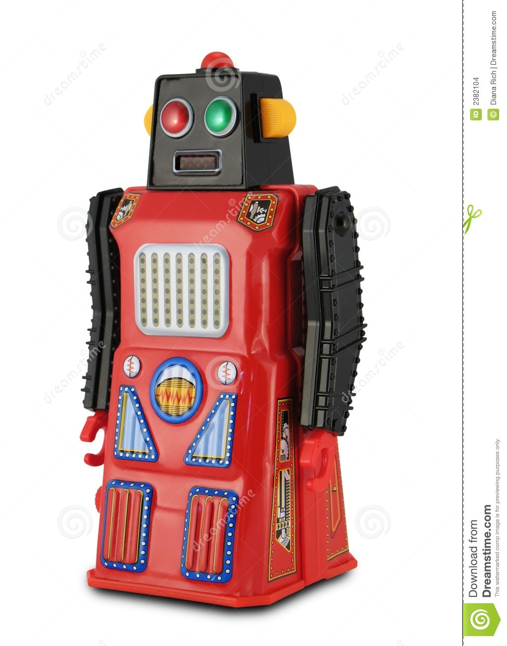 black and red tin toy robot stock photo image of metal