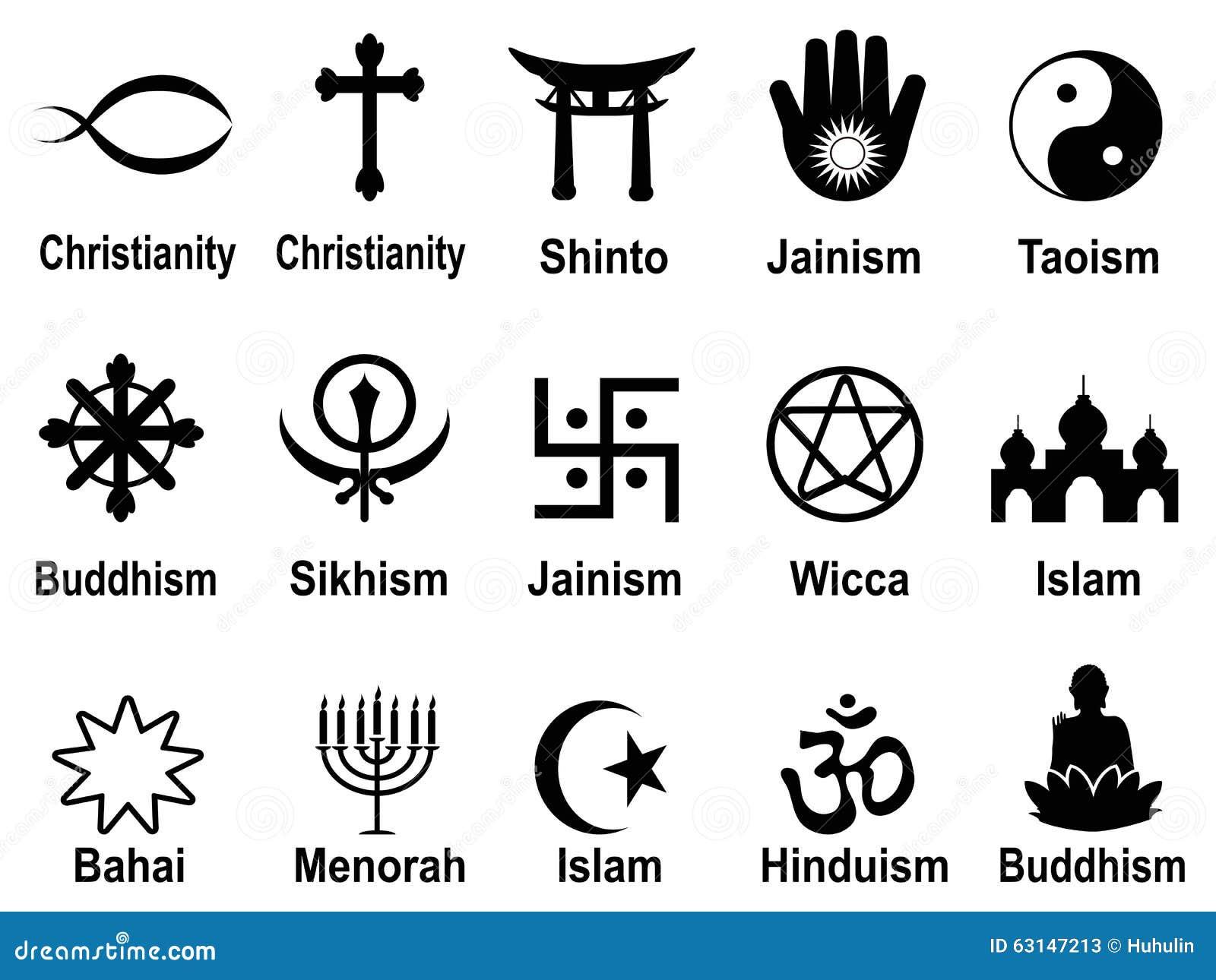 black religious symbols icons set stock vector image 63147213 religious clip art free religious clip art free images
