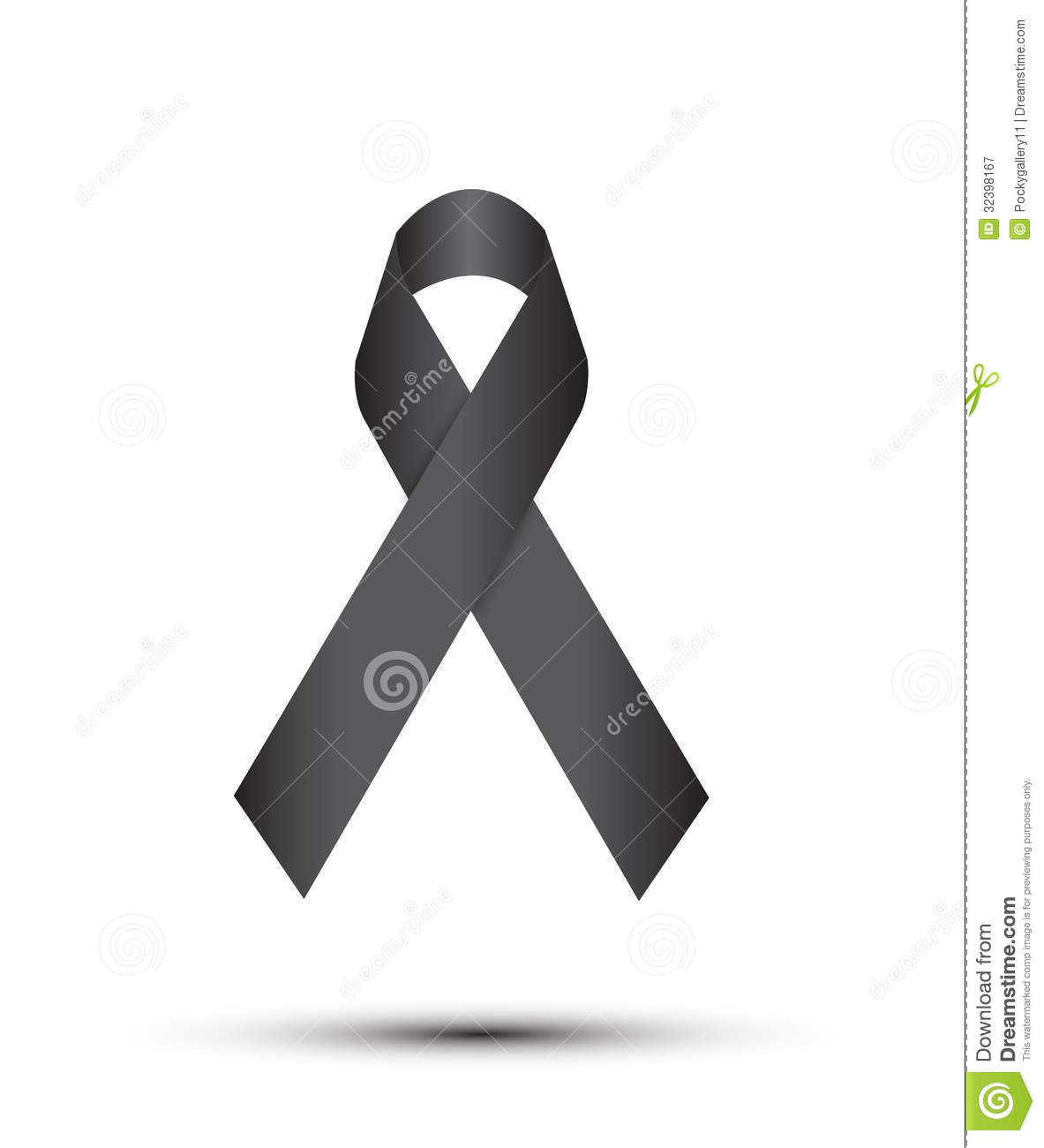 Black Ribbon On White Royalty Free Stock Photography