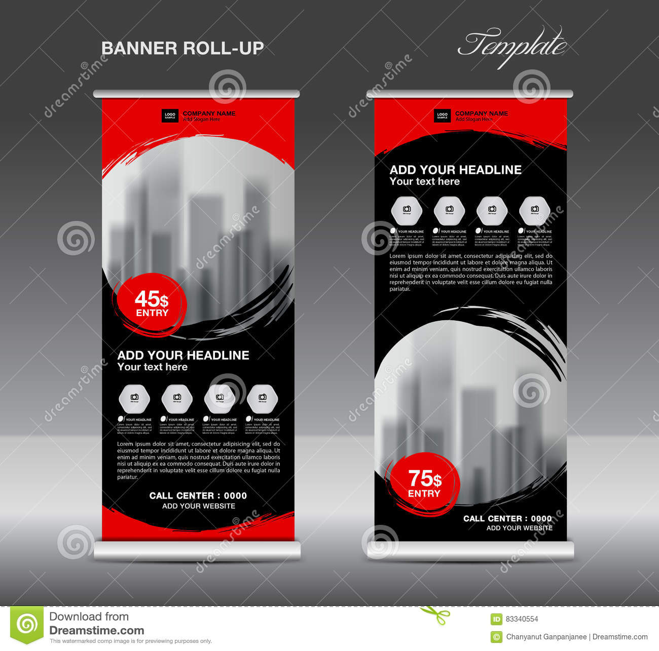 black roll up banner template vector flyer advertisement stock black roll up banner template vector flyer advertisement