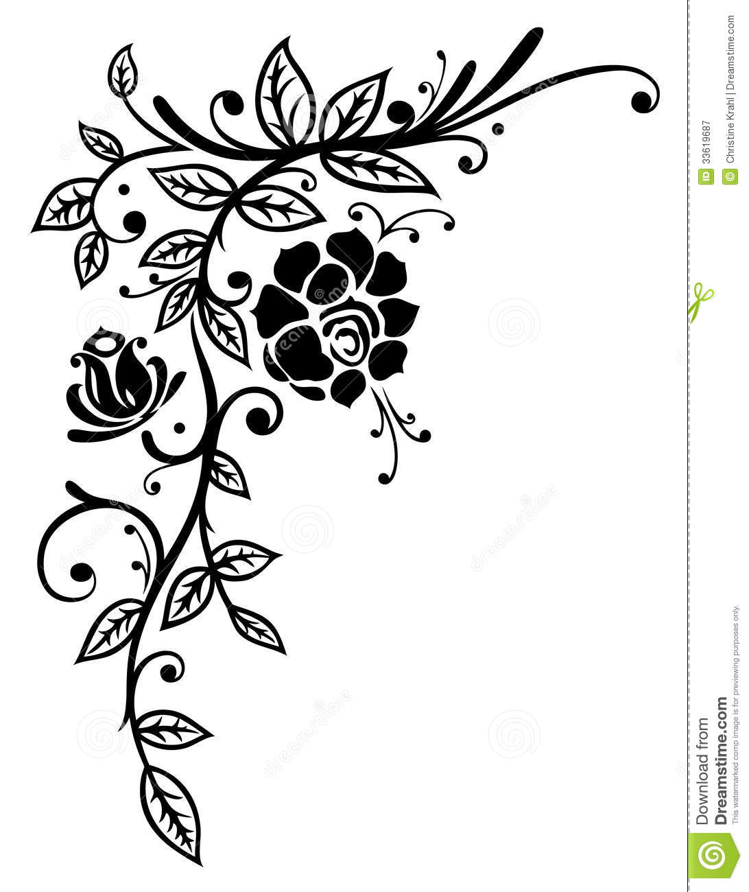 Knumathise rose clip art black and white border images rose clip art black and white border mightylinksfo