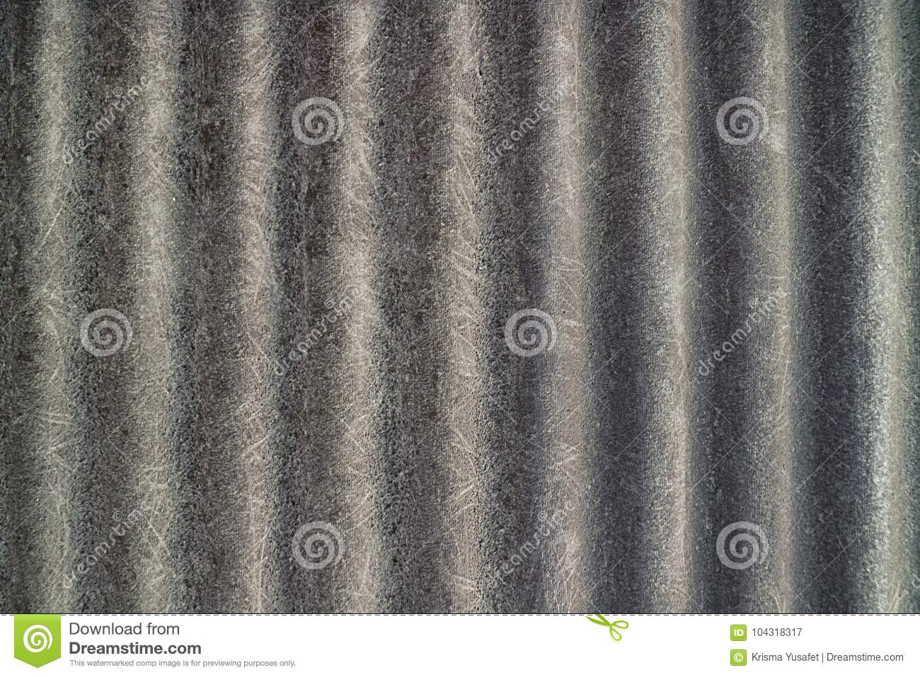 Black Rough Corrugated Asbestos Texture Stock Image - Image