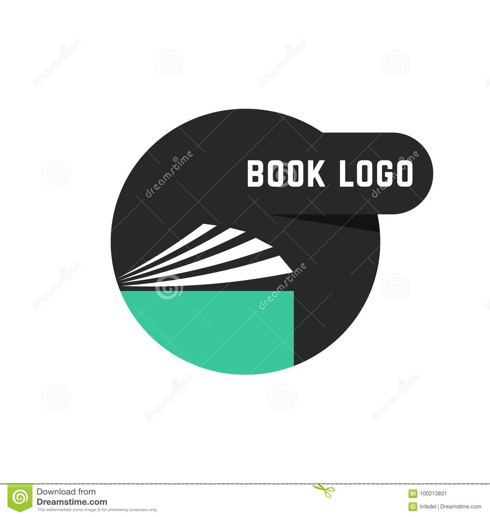 black round book logo stock vector illustration of logo 100213831