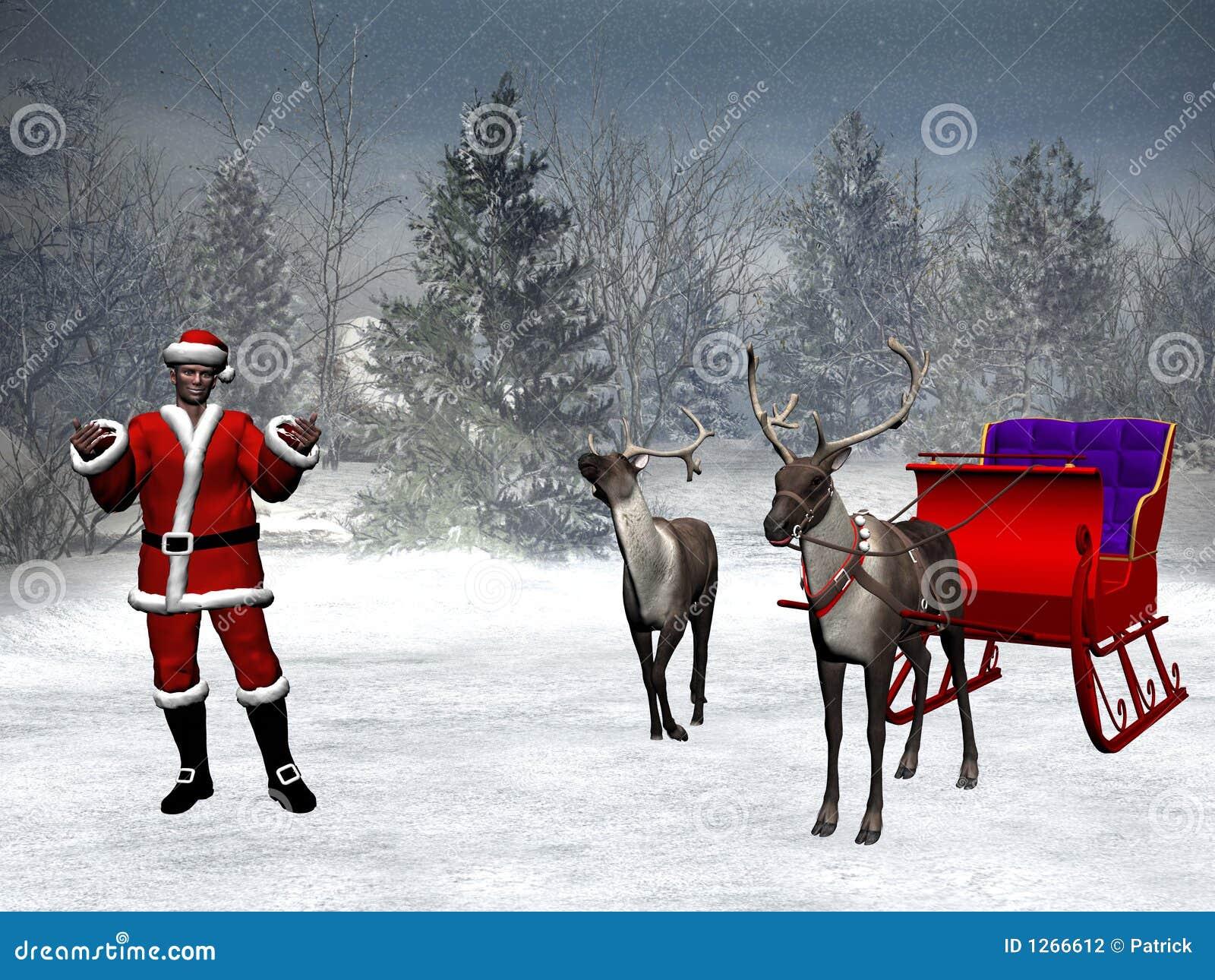 Xmas Reindeer Clipart