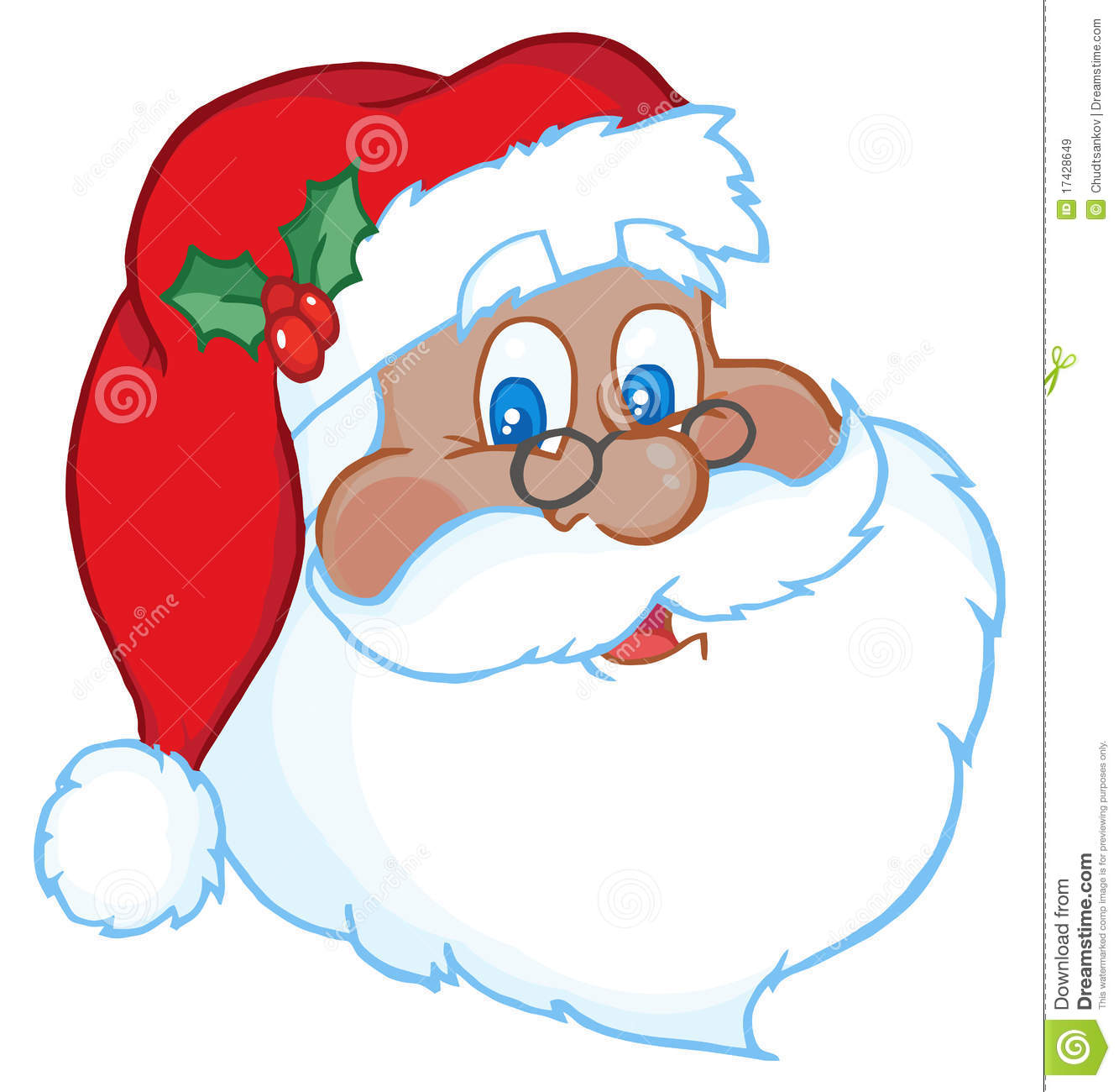 black santa face stock vector illustration of graphic 17428649 rh dreamstime com santa face clip art black and white cartoon santa face clip art