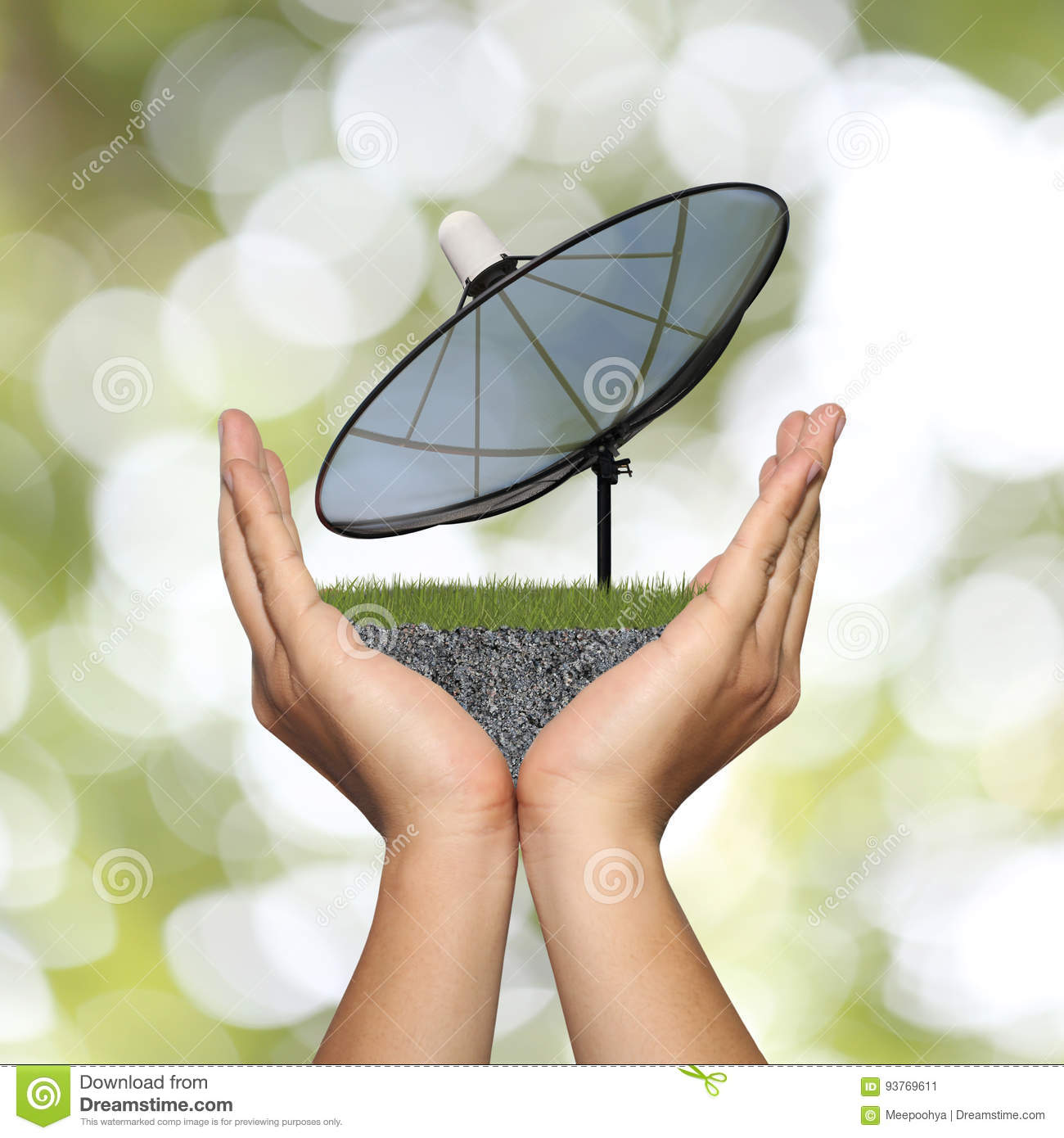 Satellite dish with own hands