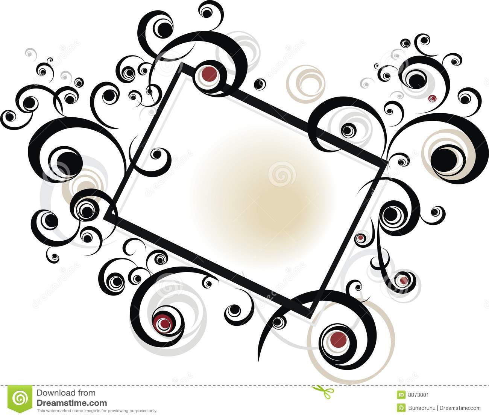 Black scroll Frame stock vector. Illustration of artwork - 8873001