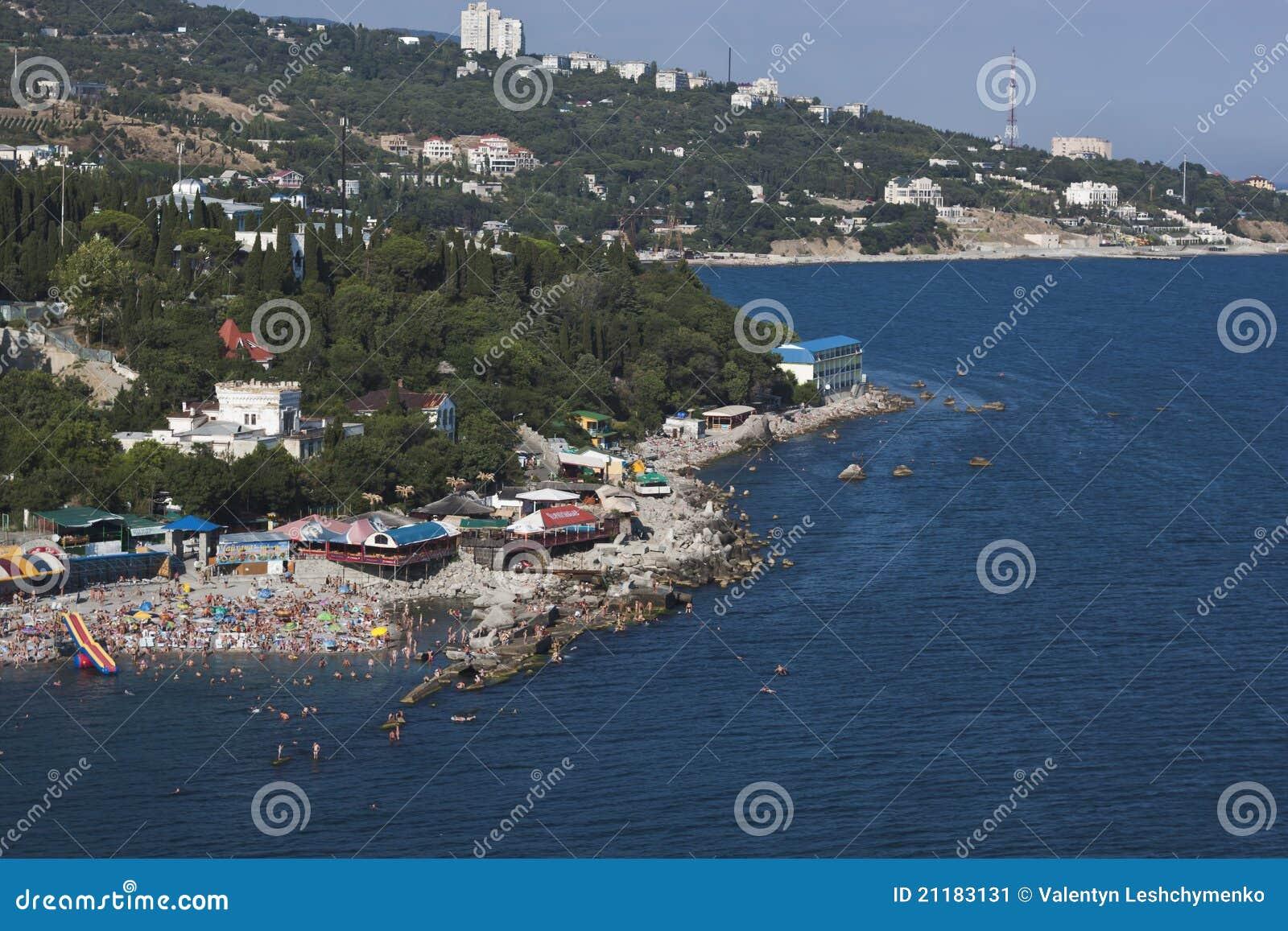 The Black Sea coast of Crimea. Simeiz