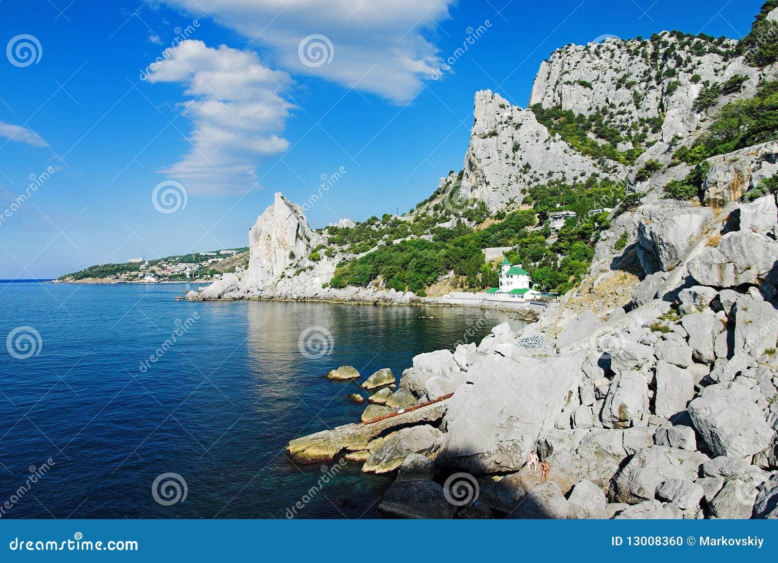 Black sea coast near the town simeiz crimea ukraine