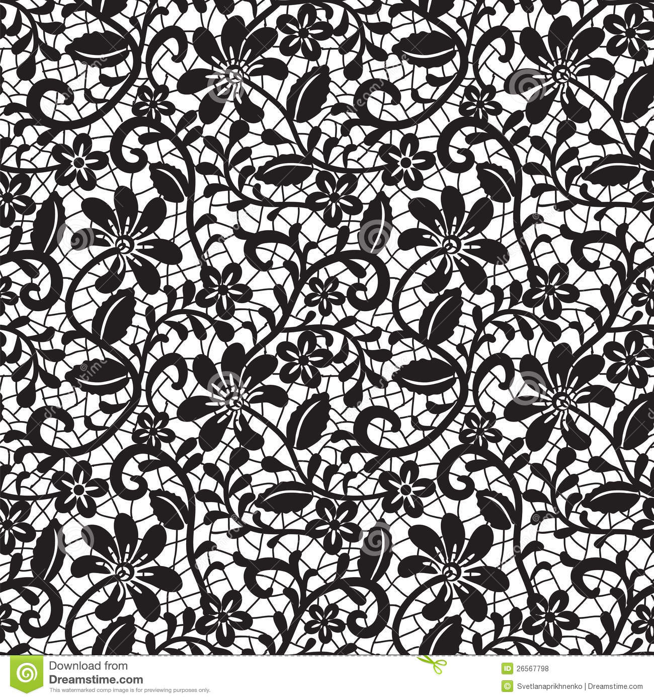 black seamless lace pattern stock vector illustration of