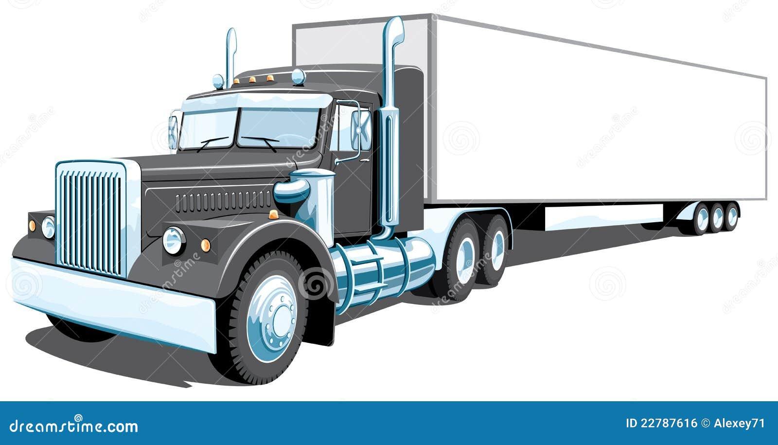 18 Wheeler Prices >> Black semi truck stock vector. Illustration of business - 22787616